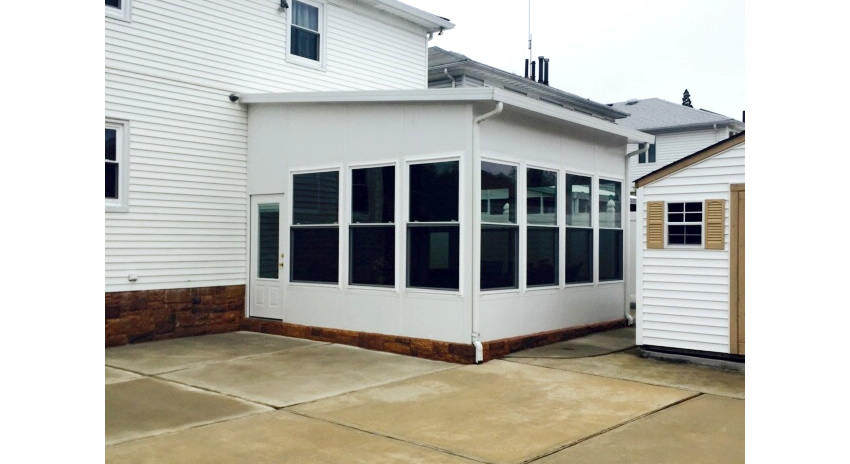 Fully Insulated with Insulated Doors and Windows