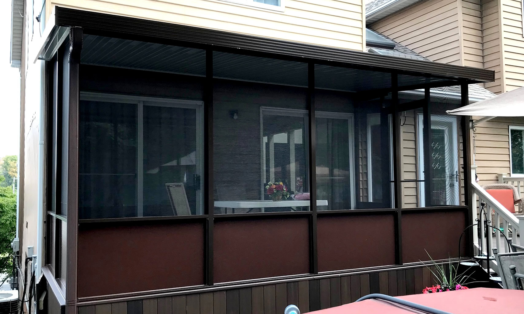 Brown Aluminum Screen Room